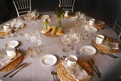 decoracion mesa boda by mallol catering
